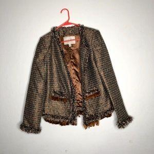 Boston Proper Open Front Tweed Blazer Sz 12